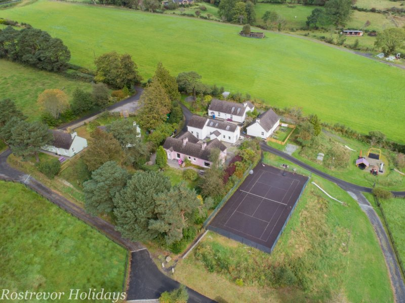 Aerial-View-of-cottages-Rostrevor-Holidays