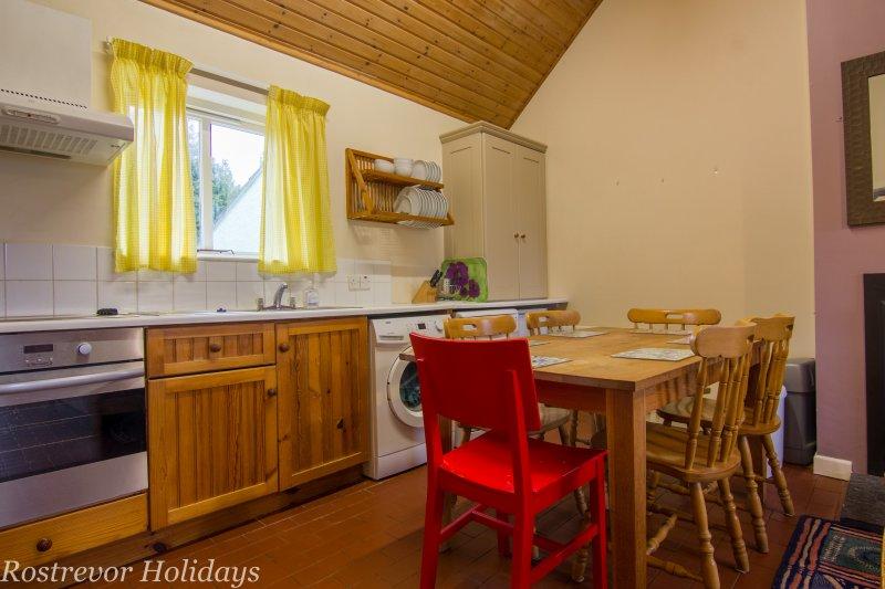 Kitchen. Slieve Martin.  Holiday Cottage Ireland