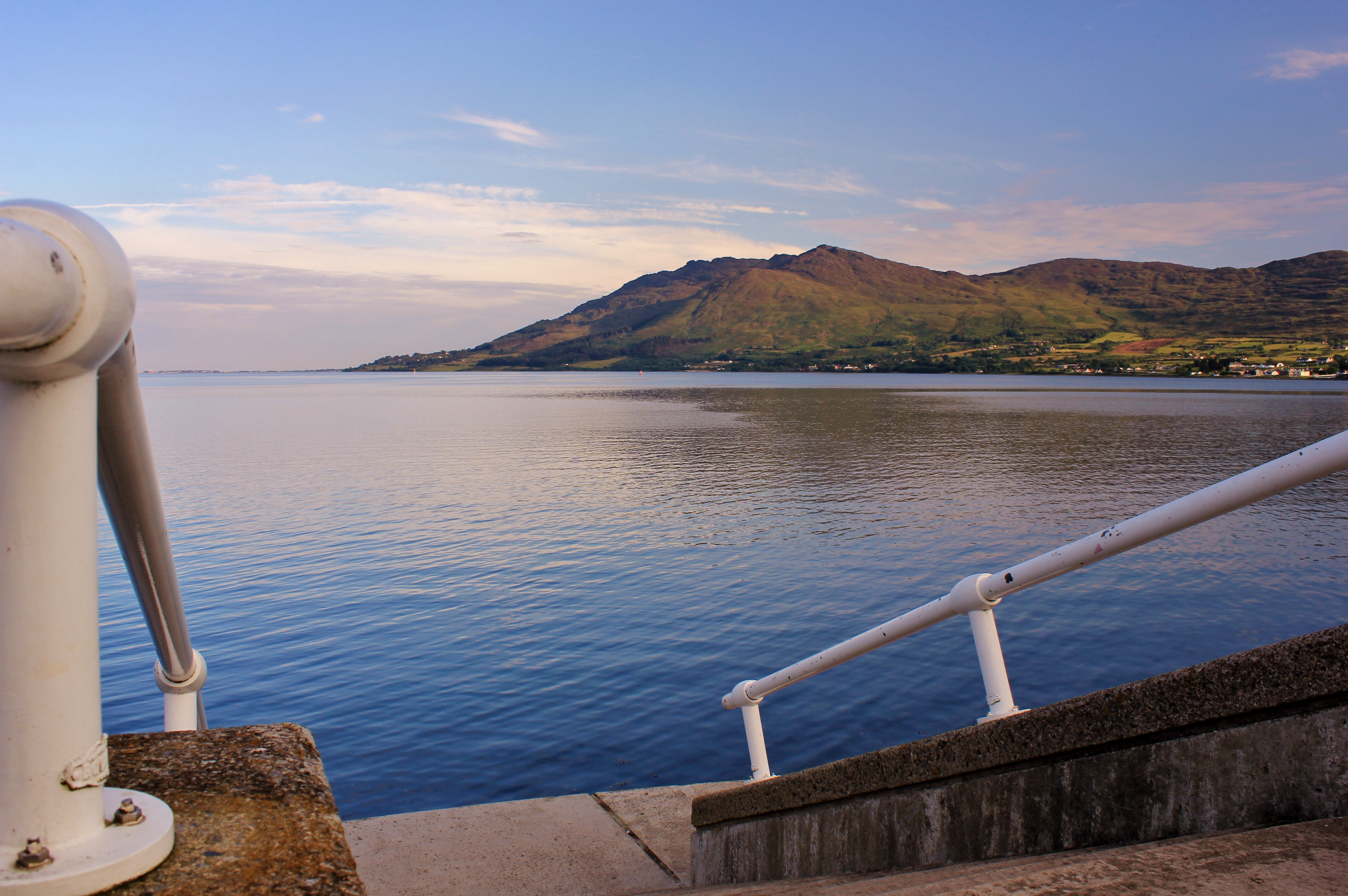 Steps leading down to the sea, Carlingford Lough
