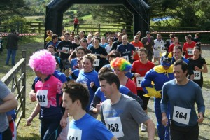 Competitors at the Oh Muck! Mud Run, Rostrevor Holidays