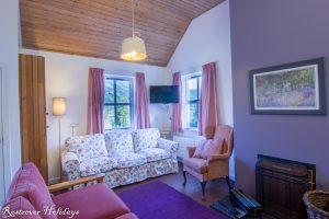 Cnoc Si, 3 bedroom cottage, Living Room, Rostrevor Holidays